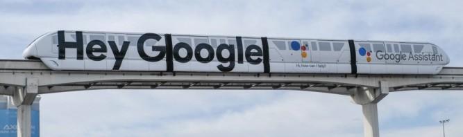CES 2018이 열리는 라스베거스에 등장한 구글 어시스턴트 광고 - 심재석 제공